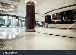 luxury lobby interiorwith crystal lampbing hall stock photo