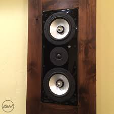 home theater wall stand residential portfolio audio wizard av