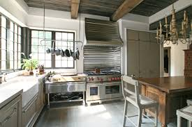 kitchen style hanging pot rack ideas and french windows for