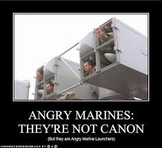 Angry Marines Meme - angry marines they re not canon cheezburger funny memes