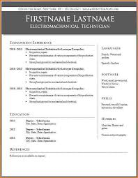 Word 2010 Resume Templates Free Resume Templates For Word 2010 Resume Template And