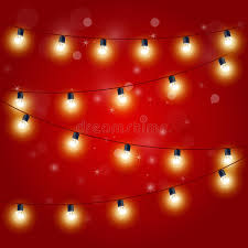 lights festive carnival garland with light bulbs stock