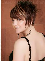 spiked hair with long bangs red spiky short haircut for women love the cut and color i use to