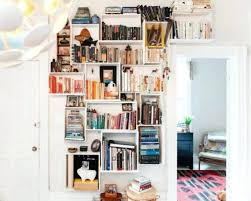 Bookshelves On The Wall Bookcase Tidy White Wall Mounted Shelves On Clean Painted Wall