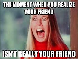 Memes Fake - the moment when you realize your friend isn t really your friend