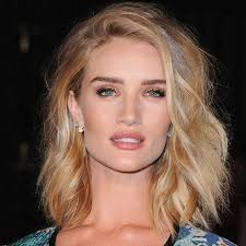rosie huntington side parted lob the tousled lob courtesy of rosie huntington whiteley see this