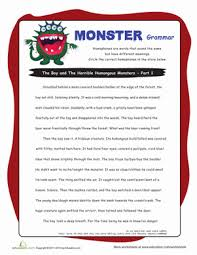 homophone story worksheet education com