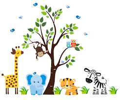wall stickers nursery wall decals nature baby nursery details safari animal wall decals for kids