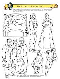 joseph smith coloring page first vision smiths operation 6 mini