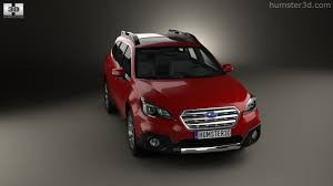 red subaru outback 2016 360 view of subaru outback 2015 3d model hum3d store