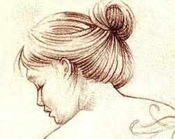 drawings of women etsy