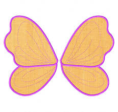 fairy wings machine applique designs daily embroidery