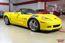 yellow corvette 2011 chevrolet corvette grand sport convertible stock m6081 for