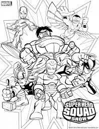 super hero squad coloring page kids coloring