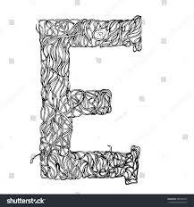 herbarium font type herbal vector letters stock vector 382598791