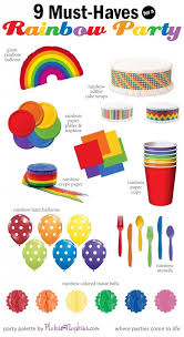 Rainbow Party Decorations Best 25 Rainbow Party Themes Ideas On Pinterest Rainbow Theme