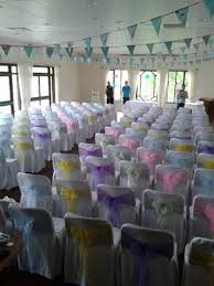 diy chair sashes covered in style wedding chair cover hire service based in