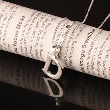 fine name necklace images Alphabet d pendant real 925 sterling silver chains fine jewelry jpg