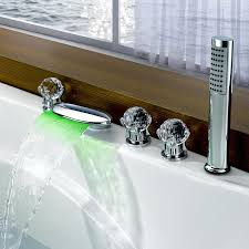 clam waterfall led lighting bath shower mixer tap
