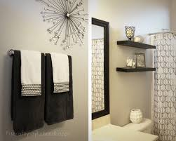 black white and red bathroom accessories