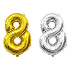number balloons delivered 16 40 gold silver foil letter number balloons birthday wedding