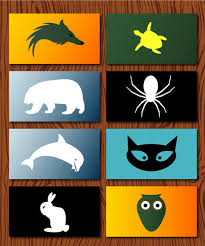 business cards animals logo vector
