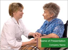 old woman and nurse powerpoint template u0026 backgrounds id