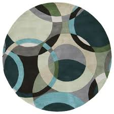 Modern Circular Rugs Forum Modern Circle Pattern Rug In Sea Foam Teal By Surya