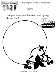 kindergarten thanksgiving coloring worksheet printable holiday