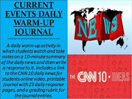 cnn 10 archive cnn current events daily warm up journal journal