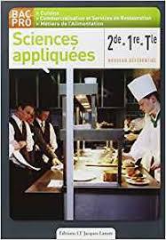 sciences appliqu馥s cap cuisine cours sciences appliqu馥s bac pro cuisine 3 images arts