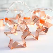Battery Operated Light Strings by Battery Powered Copper Star Cookie Cutter String Lights Trend