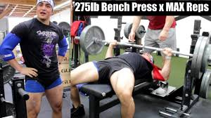 275lb bench press max reps with a slingshot ft silent mike