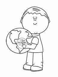 the earth is our home earth day coloring page for kids coloring
