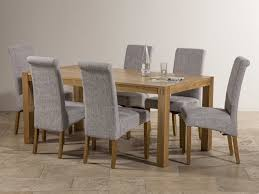 Round Extending Oak Dining Table And Chairs Chair Logo Mango Dining Table Set With Fabric Upholstered Chairs
