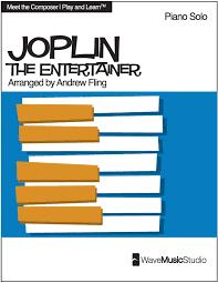 the entertainer by scott joplin easy intermediate piano sheet
