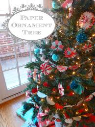 paper ornament tree and snow graham giveaway design improvised