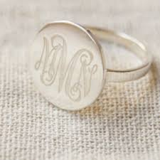 monogram rings silver best sterling silver monogram ring products on wanelo