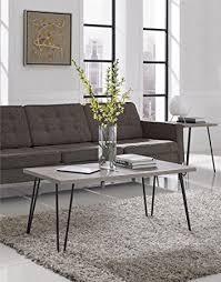 vintage coffee table legs amazon com ameriwood home owen retro coffee table with metal legs