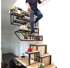 Alternate Tread Stairs Design Stair Of The Week Combines Desk Storage And Alternating Treads In
