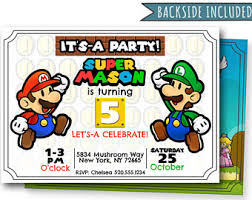 super mario birthday party super mario birthday luigi