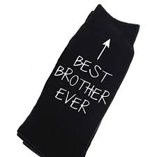 brother socks mens black socks best brother ever fathers day