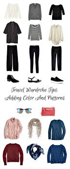neutrals colors travel wardrobe tips adding color and pattern to your neutrals