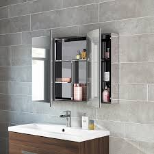 3 Door Mirrored Bathroom Cabinet Bathrooms Design Recessed Mirrored Medicine Cabinets For