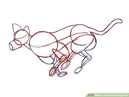 basic outlines how to draw a running wolf 7 steps with pictures wikihow