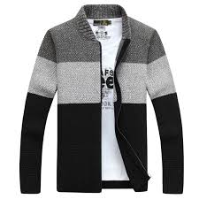 2016 mens sweater warm thick velvet sweaters winter