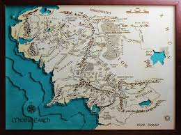map from lord of the rings middle earth the lord of the rings map laser cut 100 made in