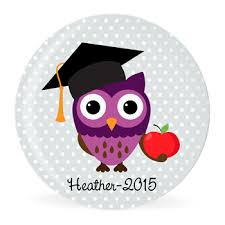 graduation owl the original make a plate personalized melamine template