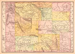 Map Of Colorado And Wyoming by Maps Antique United States Us States Wyoming