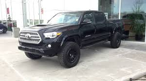 toyota tacoma blacked out lifted 2017 toyota tacoma double cab trd sport on 275 70r17 tires